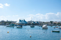 View of the port of Sliema , Malta Royalty Free Stock Image