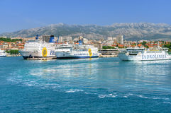 View of the port, Split town Stock Image