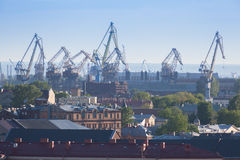View of port St. Petersburg Royalty Free Stock Photo