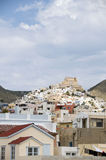 View of port town Syros Cyclades Greece Stock Photography