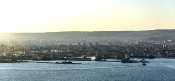View of the port of Varna. Royalty Free Stock Photo