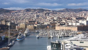 View of of Port Vell stock video