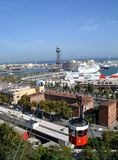 View of Port Vell in Barcelona, Spain Royalty Free Stock Images