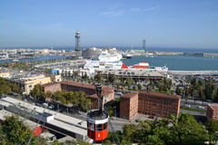 View of Port Vell in Barcelona, Spain Royalty Free Stock Photos