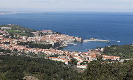 View on port vendres Royalty Free Stock Photo