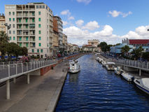 View of the port of Viareggio Versilia Italy Stock Image