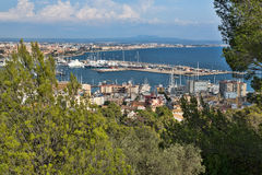 View of the port with yachts Royalty Free Stock Photos