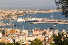 View of the port with yachts Royalty Free Stock Photography