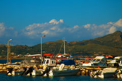 A view of a port in Zakynthos, Greece Royalty Free Stock Image