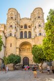 View of the portal of the side entrance of the Cathedral in Malaga - Spain Stock Photo
