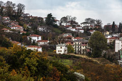 View of Portaria village royalty free stock images