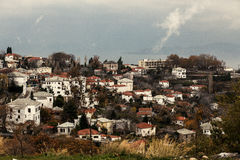 View of Portaria village Royalty Free Stock Photography