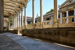 The view of portico roofed colonnaded terrace of The Tiled Kiosk Royalty Free Stock Images