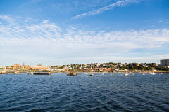 View of Portland Maine from the Sea Stock Photography