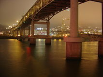 2005 view of Portland Markham Bridge. Shows night view of Markham Bridge in Portland, OR in 2005 Stock Images