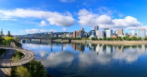 View of Portland, Oregon overlooking the willamette river. United States of America royalty free stock photography