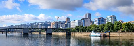 View of Portland, Oregon overlooking the willamette river. United States of America royalty free stock photos