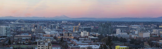 View of Portland Pearl District Cityscape at Sunset Royalty Free Stock Image