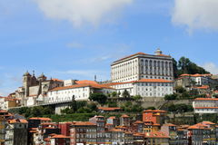 View of Porto. With houses and the cathedral, Portugal stock images