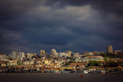 View of Porto across the Duoro river at sunset Stock Images