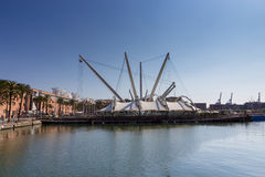 View of Porto Antico in Genoa Royalty Free Stock Image