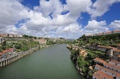 View of Porto from bridge de Luis I (Portugal). View of Porto and Douro river from bridge de Luis I (Portugal Stock Image
