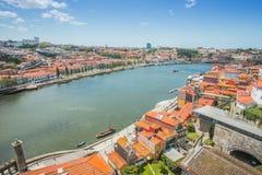 View of Porto from the bridge of Ponte di Don Luis I royalty free stock photo