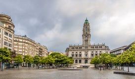View at Porto City Hall in the Avenida dos Aliados - Portugal Royalty Free Stock Photography