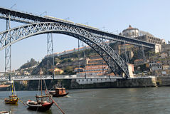View of Porto city, Portugal. Royalty Free Stock Photos