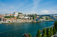 View of Porto city on summer day Royalty Free Stock Photography
