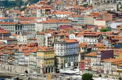 The view of porto city on summer day Stock Images