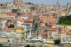 The view of porto city on summer day Royalty Free Stock Photos