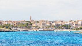 View of Porto Cristo from the sea, Majorca Stock Image