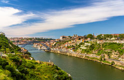 View of Porto with the Dom Luis Bridge Royalty Free Stock Image
