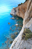 View from Porto Katsiki beach, Greece. View from Porto Katsiki beach, Lefkada, Greece royalty free stock image