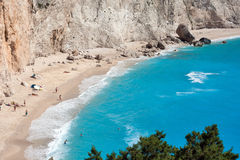 View of porto Katsiki beach, Lefkada Stock Photos