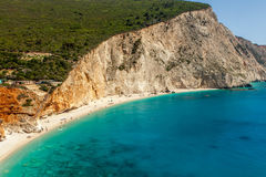 View of porto Katsiki beach, Lefkada Greece Stock Image