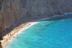 View of porto Katsiki beach, Lefkada Greece Stock Images