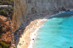 View of porto Katsiki beach, Lefkada Greece Stock Photography