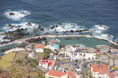View of Porto Moniz, Madeira stock image