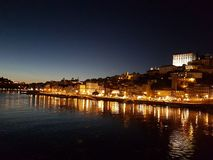 View of Porto at night Portugal royalty free stock image