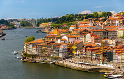 View of Porto over the river Douro Stock Images