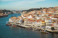 View of Porto, Portugal. Portugal is not a very large country and travel throughout the country is made simple with modern highways and trains. Most people Stock Photography