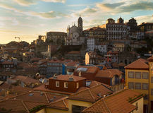 VIew of Porto, Portugal during sunset Royalty Free Stock Photo