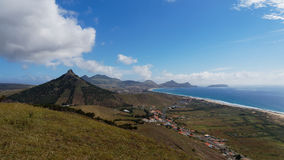View from Porto Santo, Madeira Islands stock photography