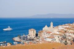 View of Porto Santo Stefano, Tuscany in Italy Royalty Free Stock Image