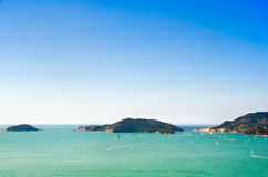 View of Porto Venere and Palmaria Island, Italy Royalty Free Stock Images