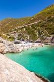 View of Porto Vromi beach in Zakynthos Zante island, in Greece. View of Porto Vromi beach in Zakynthos Zante island in Greece Stock Images