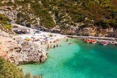 View of Porto Vromi beach in Zakynthos Zante island, in Greece. View of Porto Vromi beach in Zakynthos Zante island in Greece Stock Photos