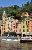 View on Portofino harbour, Liguria, Italy Stock Image